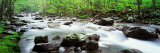 Water Flowing over Rocks, Little Pigeon River, Great Smoky Mountains National Park, Tennessee, USA Fotografie-Druck von Panoramic Images 