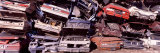 Pile of Demolished Cars at a Junkyard, Vancouver, British Columbia, Canada Photographic Print by  Panoramic Images