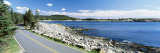Road Passing through a Landscape, Park Loop Road, Atlantic Ocean, Acadia National Park, Maine, USA Photographic Print by  Panoramic Images