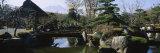 Footbridge in a Garden, Japanese Garden, Oshino, Japan Fotografisk trykk av Panoramic Images,