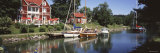 Leisure Boats, Red Hotel, Gota Kanal, Gotland, Sweden Photographic Print by  Panoramic Images