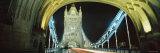Bridge Lit Up at Night, Tower Bridge, London, England Photographic Print by  Panoramic Images