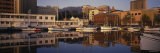 Reflection of Buildings and Boats on Water, Hobart, Tasmania, Australia Photographic Print by Panoramic Images 