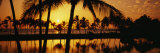 Silhouette of Palm Trees at Sunset, Anaeho Omalu Bay, Waikoloa, Hawaii, USA Photographic Print by  Panoramic Images