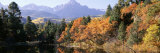 Waterfront and Mountain Range, Uncompahgre National Forest, Colorado, USA Photographic Print by  Panoramic Images