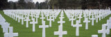 Rows of Tombstones in a Cemetery, American Cemetery, Normandy, France Photographie par Panoramic Images 