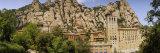 Rock Formations over a Monastery, Montserrat Monastery, Montserrat Barcelona, Catalonia, Spain Fotografisk trykk av Panoramic Images,