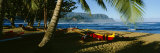 Catamaran on the Beach, Hanalei Bay, Kauai, Hawaii, USA Photographic Print by  Panoramic Images