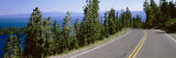 Pine Trees on Both Sides of Highway 89, Lake Tahoe, California, USA Photographic Print by  Panoramic Images