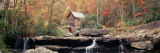 Panoramic Images - Mill in a Forest, Glade Creek Grist Mill, Babcock State Park, West Virginia, USA Fotografická reprodukce