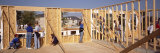 Group of Construction Workers Building a House, Virginia, USA Photographic Print by  Panoramic Images