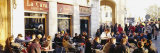 Tourists Sitting Outside of a Cafe, Barcelona, Spain Photographic Print by  Panoramic Images