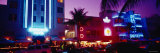 Hotel Lit Up at Night, Miami, Florida, USA Photographic Print by  Panoramic Images