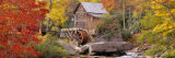 Hut in a Forest, St. Park, Glade Creek Grist Mill Babcock, West Virginia, USA 写真プリント : パノラミック・イメージ(Panoramic Images)