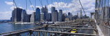 Traffic on a Bridge, Brooklyn Bridge, Manhattan, New York, USA Photographic Print by Panoramic Images