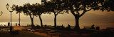 Panoramic Images - Benches in a Park, Torri del Benaco, Lake Garda, Italy Fotografická reprodukce