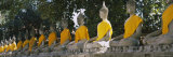 Statues of Buddha in a Temple, Wat Yai Chai Ya Mongkhon, Ayuthaya, Thailand Photographic Print by  Panoramic Images