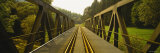 Railroad Tracks Passing through a Bridge, Germany Photographic Print by Panoramic Images