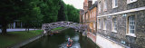 Bridge Across a Canal, Cambridge, England Photographic Print by  Panoramic Images