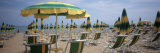 Beach Umbrellas and Beach Chairs on the Beach, Lignano Sabbiadoro, Italy Photographic Print by  Panoramic Images