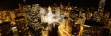 City at Night, Chicago River, Chicago, Illinois, USA Photographic Print by Panoramic Images