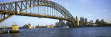 Bridge and City, Sydney Harbor, Sydney, New South Wales, Australia Photographic Print by  Panoramic Images