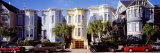 Cars Parked in Front of Victorian Houses, San Francisco, California, USA Fotoprint van Panoramic Images,