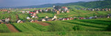 Houses in a Field, Tatra Mountains, Slovakia Photographic Print by  Panoramic Images