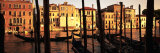 Gondolas in a Canal, Venice, Italy Fotografisk tryk af Panoramic Images,