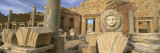 Statue in an Old Ruined Building, Leptis Magna, Libya Photographic Print by  Panoramic Images