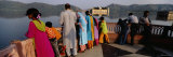 Tourist Standing in the Balcony of a Building, Jal Mahal, Jaipur, Rajasthan, India Photographic Print by  Panoramic Images