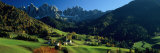 Buildings on a Landscape, Dolomites, Funes Valley, le Odle, Santa Maddalena, Tyrol, Italy Fotografisk trykk av Panoramic Images,