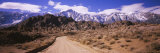 Dirt Road Passing through an Arid Landscape, Lone Pine, Californian Sierra Nevada, California, USA Photographic Print by  Panoramic Images