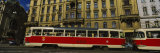 Electric Train on a Street, Prague, Czech Republic Photographic Print by  Panoramic Images