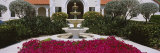 Azaleas Growing near a Fountain in a Garden, Boca Grande, Gasparilla Island, Florida, USA Photographic Print by  Panoramic Images