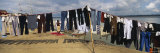 Clothes Hanging on a Clothesline, Varanasi, Uttar Pradesh, India Photographic Print by  Panoramic Images
