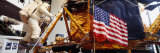 Astronaut and an American Flag in a Museum, National Air and Space Museum, Washington D.C., USA Photographic Print by  Panoramic Images