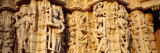 Sculptures Carved on a Wall of a Temple, Jain Temple, Ranakpur, Rajasthan, India Photographie par Panoramic Images