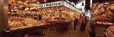 Group of People in a Vegetable Market, La Boqueria Market, Barcelona, Catalonia, Spain Photographic Print by  Panoramic Images