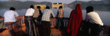 Tourists Looking at a Palace in a Lake, Jal Mahal, Jaipur, Rajasthan, India Photographic Print by  Panoramic Images