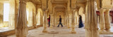 Four People Walking in a Fort, Amber Fort, Jaipur, Rajasthan, India Photographic Print by  Panoramic Images