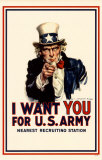I Want You For US Army Masterprint