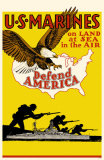 US Marines Defend America Masterprint