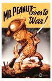 Mr. Peanut Goes To War Impresso de alta qualidade