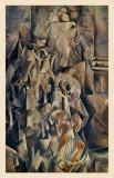 Violon and Jug Art par Georges Braque