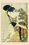 Woman Dressing Another's Hair Prints by Utamaro Kitagawa