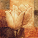 Two Tulips II Print by Herve Libaud