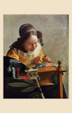 The Lacemaker Prints by Jan Vermeer