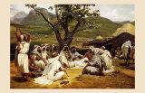 L'Arabe Diseur de Contes, 1833 Kunstdrucke von Horace Vernet