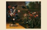 Vase de Fleurs et Parterre de Tulipes, 1744 Posters by Jean-Baptiste Oudry